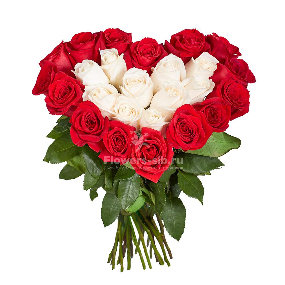 Букеты роз виде сердца 15